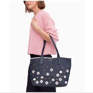 Kate Spade Ash Street Spade Applique Tote Bag